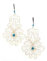 Flos & Florem Lace and swarovski earrings