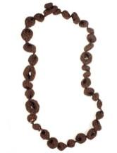 Flos & Florem Long necklace in crochet and swarovski