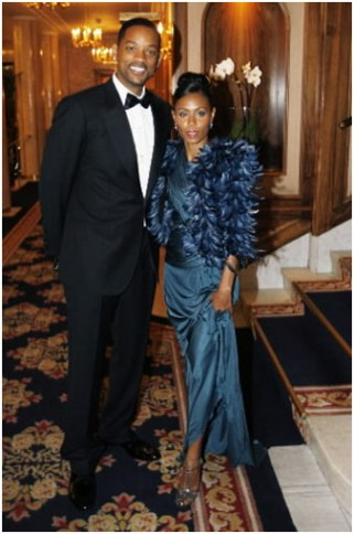 Will Smith and Jada Pinkett Smith (wearing Emilio Pucci)