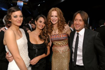 Marion Cotillard, Penelope Cruz, Nicole Kidman in Oscar De La Renta, Keith Urban