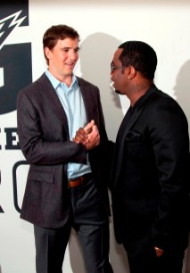 """Eli Manning and Sean """"Diddy"""" Combs"""
