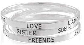 Carolee LUX Sterling Sentiments Bangles - $115