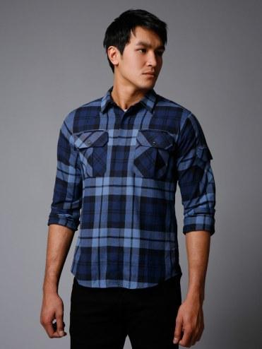 Edun Cotton Twill Plaid Shirt