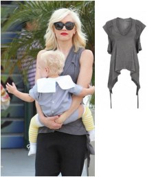 Gwen Stefani wearing AllSaints Cana top