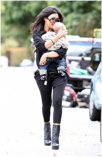 Kourtney Kardashian wearing Donna Karan Shapewear