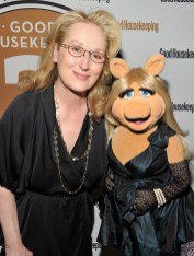 Meryl Streep and Miss Piggy at the Good Housekeeping Gala