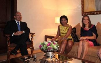 Michelle Obama wearing Jason Wu
