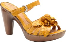 Leather sandals with flower detail ($95) at bornshoes.com