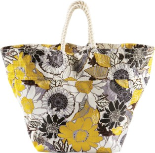 Floral print canvas tote ($78) at Hat Attack; 800-982-1569