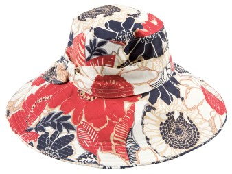 Floral sunhat ($50) at Hat Attack; 800-982-1569