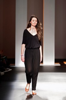 Stefania Borra on the runway, Barcelona Fall 2010