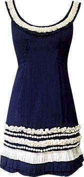 Riviera Origami Dress in Marine/Milk, $343