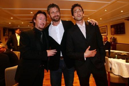 Julian Lennon, Gerard Butler and Adrien Brody