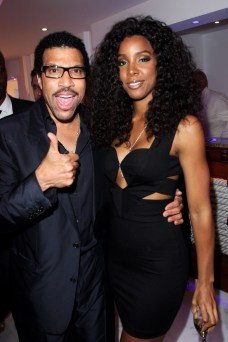 Lionel Richie (L) and Kelly Rowland