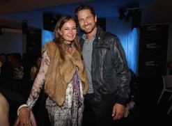 Eva Cavalli and actor Gerard Butler