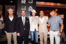 (From left) Mr. Chun Wu, Mr. Robert Mancini, Alfred Dunhill Managing Director Asia Pacific, Mrs. QiQi Yam, Mr. Simon Yam, and Mr. William Chan