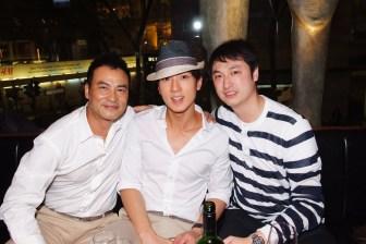 (From left) Mr. Simon Yam, Mr. Chun Wu, and Mr. Alan Chan
