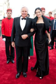 Demi Moore with Bernard Fornas, President and CEO of Cartier International