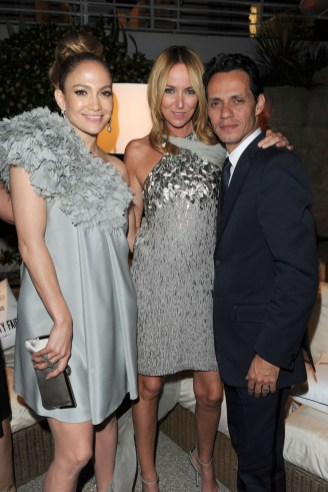 Jennifer Loopez, Frida Giannini and Marc Anthony - all in Gucci