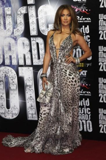 Jennifer Lopez in Roberto Cavalli and Swarovski bag
