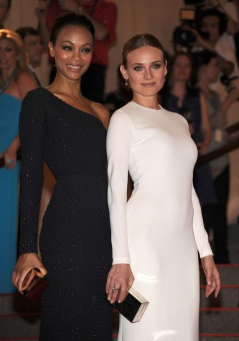Zoe Saldana and Diane Kruger in Calvin Klein Collection