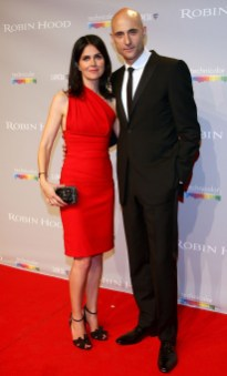 Mark Strong and wife