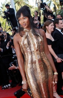 Naomi Campbell wearing Roberto Cavalli and de GRISOGONO jewellery