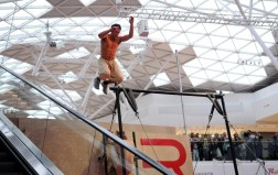 Performers from 3Run display Parkour