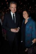 Bernard Arnault and Suzy Menkes