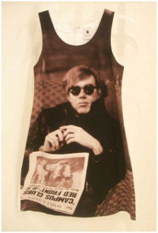 Andy with Newspaper by Nat Finkelstein Cotton Twill Dress, $1295