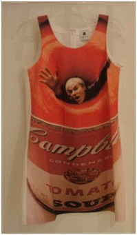 Andy Warhol in a Soup Can by Carl Fischer Cotton Twill Dress, $1295