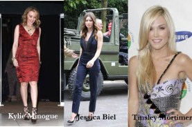Kylie Minogue, Jessica Biel, Tinsley Mortimer
