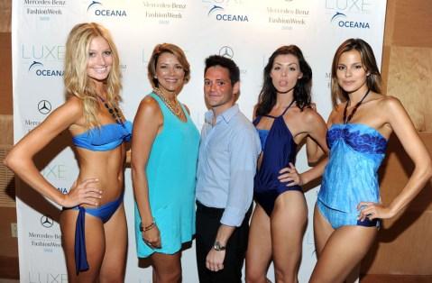 Designer Lisa Vogel and models