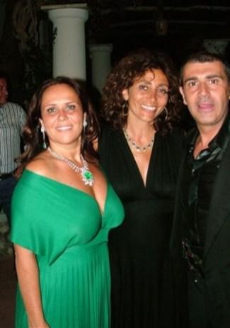 Capri - Lo stilista Michele Miglionico e l'ambasciatrice di Bulgaria Roxana Mladenov