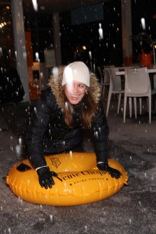 Snow Tubing Veuve Clicquot in the Snow