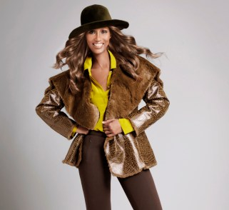 Python Draped Faux Shearling Olive