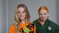 Aurore Morisse (modelling the tree-shirt) & Dame Vivienne Westwood