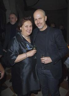 Suzy Menkes and Italo Zucchelli