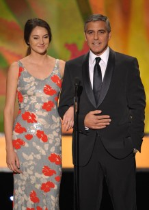 Shailene Woodley and George Clooney