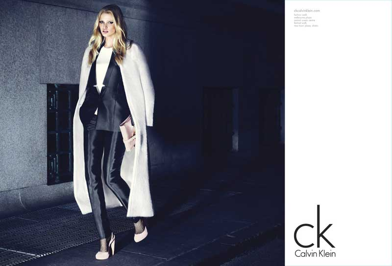 Lara Stone is once again the Face of Calvin Klein Brands ...