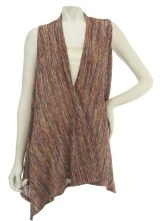 George Simonton Space Dyed Crinkle Drape Front Vest