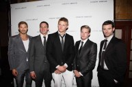 Kellan Lutz Ryan Lochte Alexander Ludwig Hunter Parish Daniel Gillies left to right