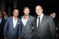 New York Rangers Brad Richards Tarzans Kellan Lutz US Olympic Swimmer Ryan Lochte left to right