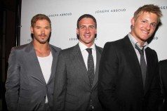 Tarzans Kellan Lutz US Olympic Swimmer Ryan Lochte Hunger Games Alexander Ludwig Left to right
