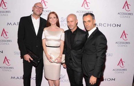 Ulrich Grimm, Julianne Moore, Italo Zucchelli, and Francisco Costa