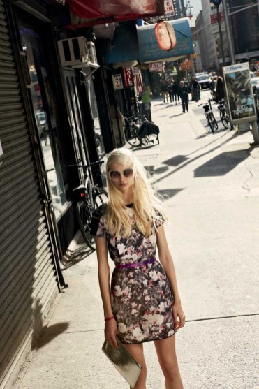Willa Dress in Brooklyn Botanical, Ilyn Belt, Janet Clutch