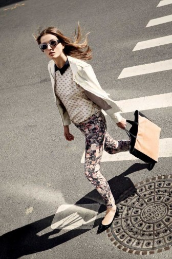 Verna Leather Jacket, Blossom Shirt, Sonica Pant in Brooklyn Botanical, Brooke Tote, Ava Belt – Natural Snake with Neon Pink