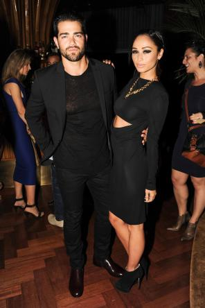 """""""Cara Santana and Jesse Metcalfe at the BCBGMAXAZRIA Runway and Herve Leger by Max Azria Spring 2014 exclusive after party"""""""