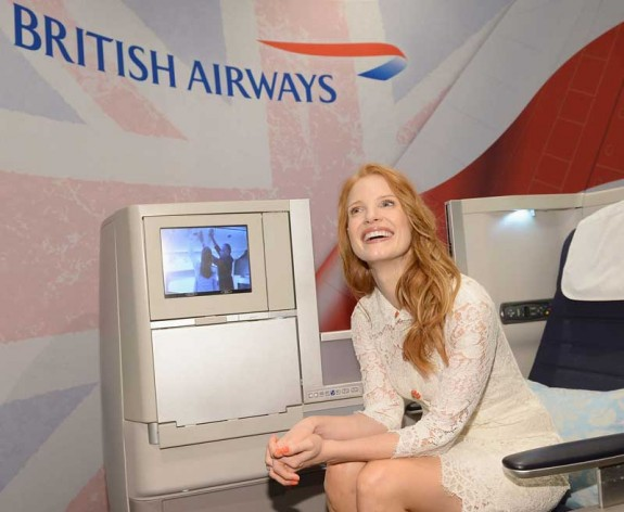 Jessica Chastain (The Disappearance of Eleanor Rigby) takes a seat with British Airways at the Variety Studio during the 2013 TIFF