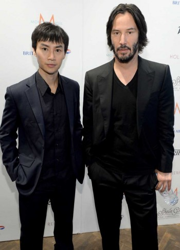 Tiger Chen (L)  and Keanu Reeves British Airways Lounge at the Variety Studio